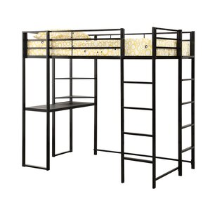 Gardiner Workstation Twin Loft Bed by Zoomie Kids