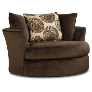 Rayna Swivel Barrel Chair by Latitude Run