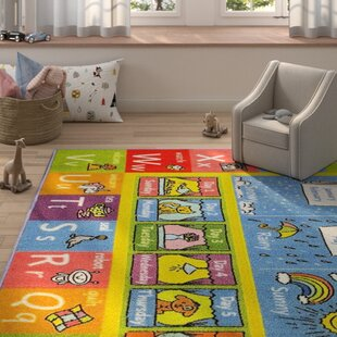 151cebde62dd Weranna ABC Seasons Months and Days of the Week Educational Learning  Blue Yellow Indoor Outdoor Area Rug