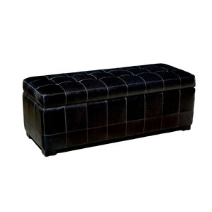 Baxton Studio Leather Ottoman by Wholesale Interiors