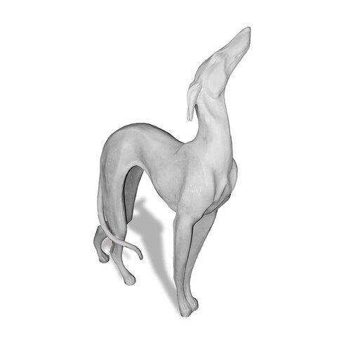 ResinStone Standing Greyhound Garden Statue