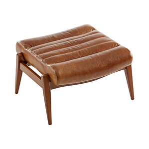Hans Leather Ottoman by Dw..