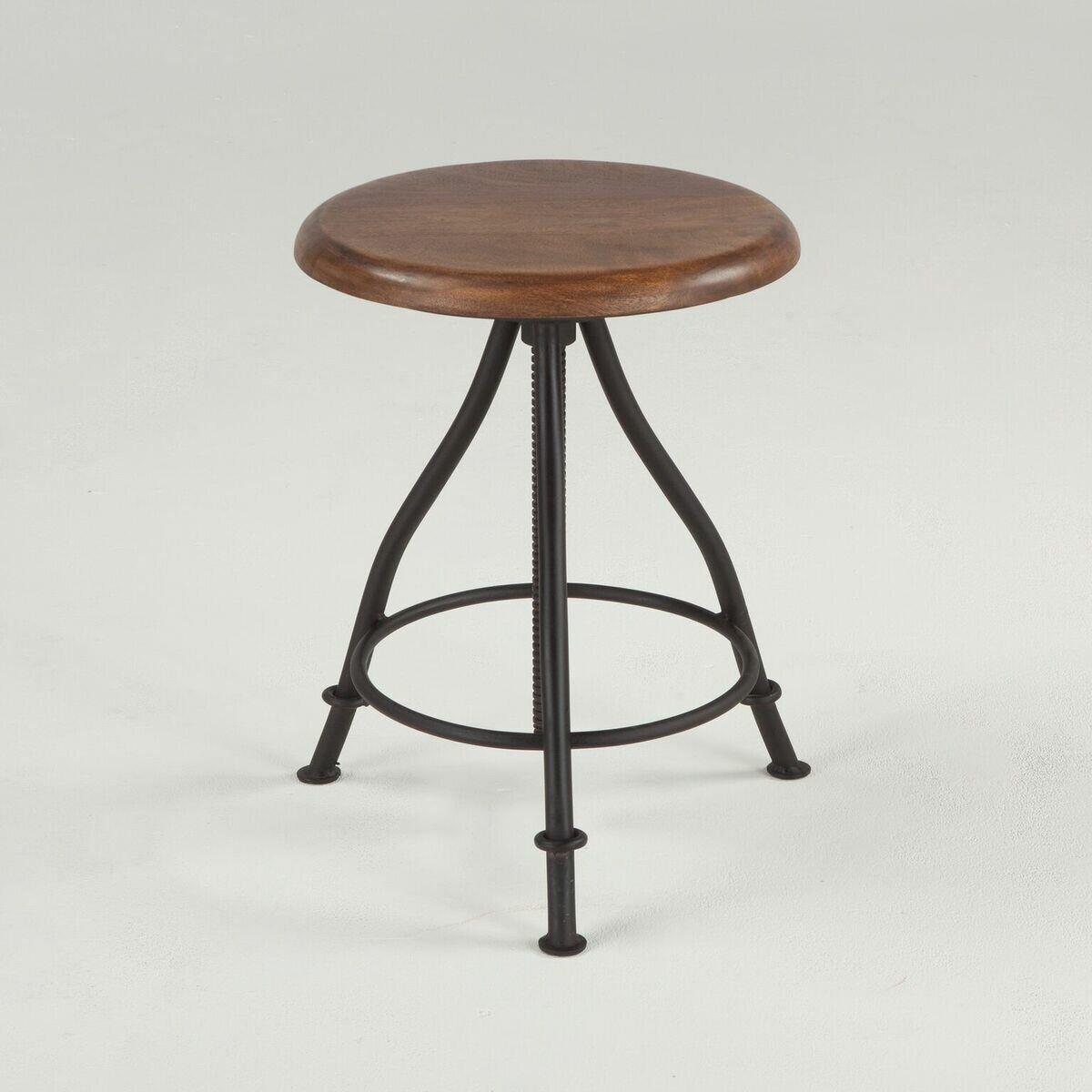Merveilleux World Interiors Artesia Acacia Wood And Iron Adjustable Backless Stool |  Wayfair