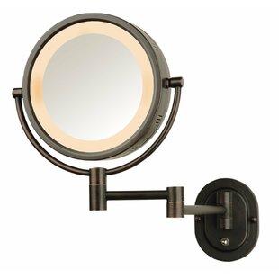 Lighted Wall Mount Makeup Shaving Mirror