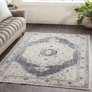 Lillo Distressed Vintage Gray/Ivory Area Rug