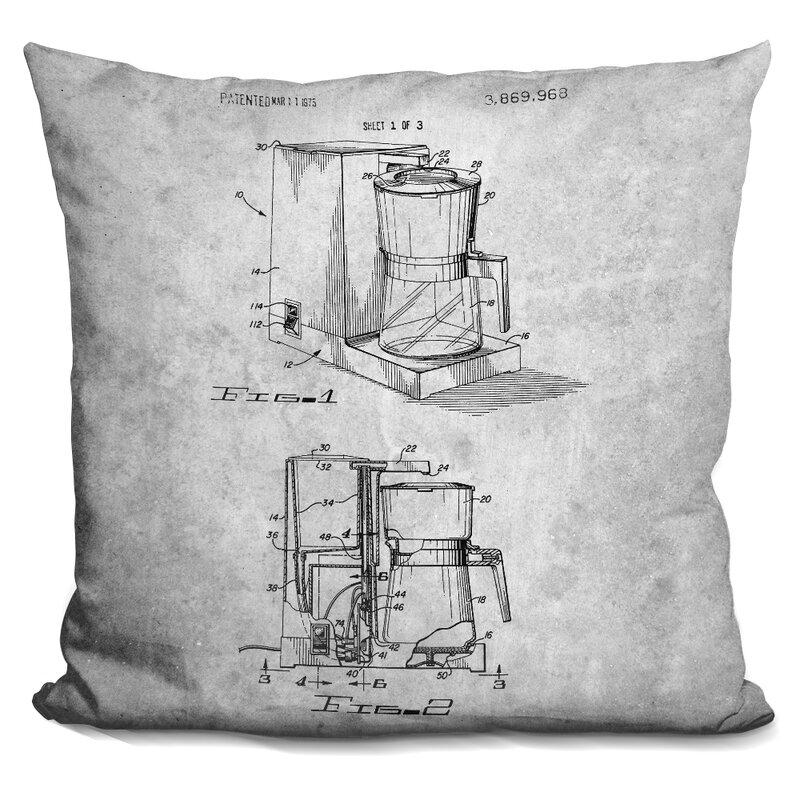 williston forge caulder coffee maker print throw pillow wayfair