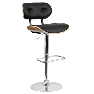 Catharina Adjustable Height Swivel Bar Stool (Set of 2) by Wade Logan
