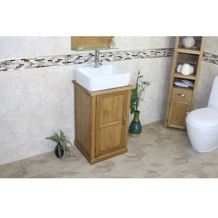 Magnificent Countryman Compact Solid Oak 500Mm Free Standing Vanity Unit Home Remodeling Inspirations Genioncuboardxyz