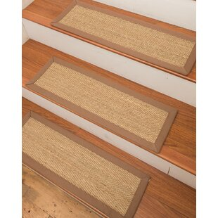 Costa Rica Seagrass Carpet Beige Stair Tread
