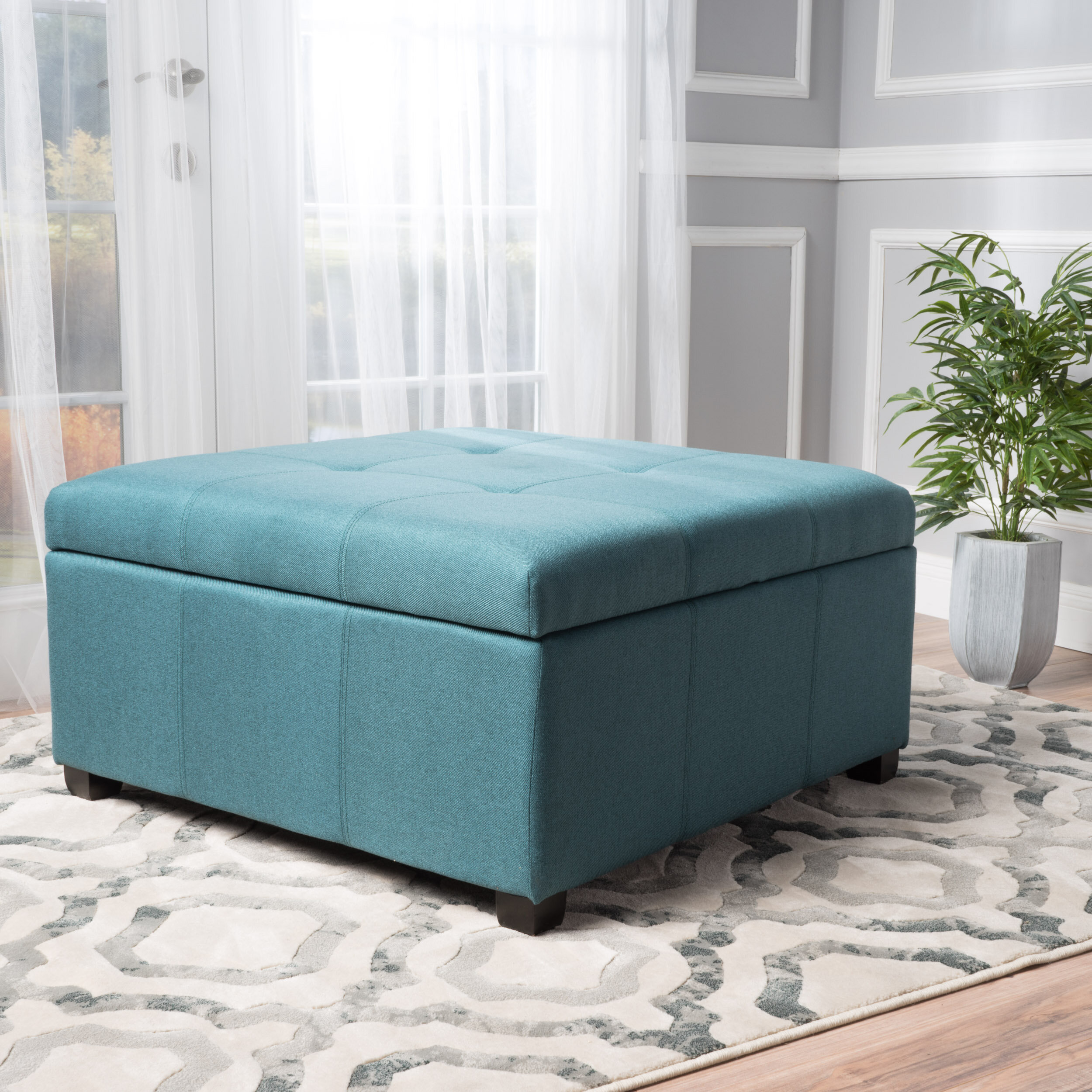 Latitude Run Ernestine Storage Ottoman U0026 Reviews | Wayfair