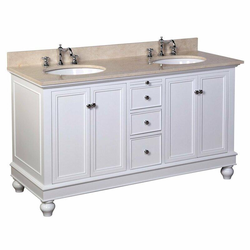 "Palazzo 60-Inch Double Bathroom Vanity kbc bella 60"" double bathroom vanity set & reviews | wayfair"