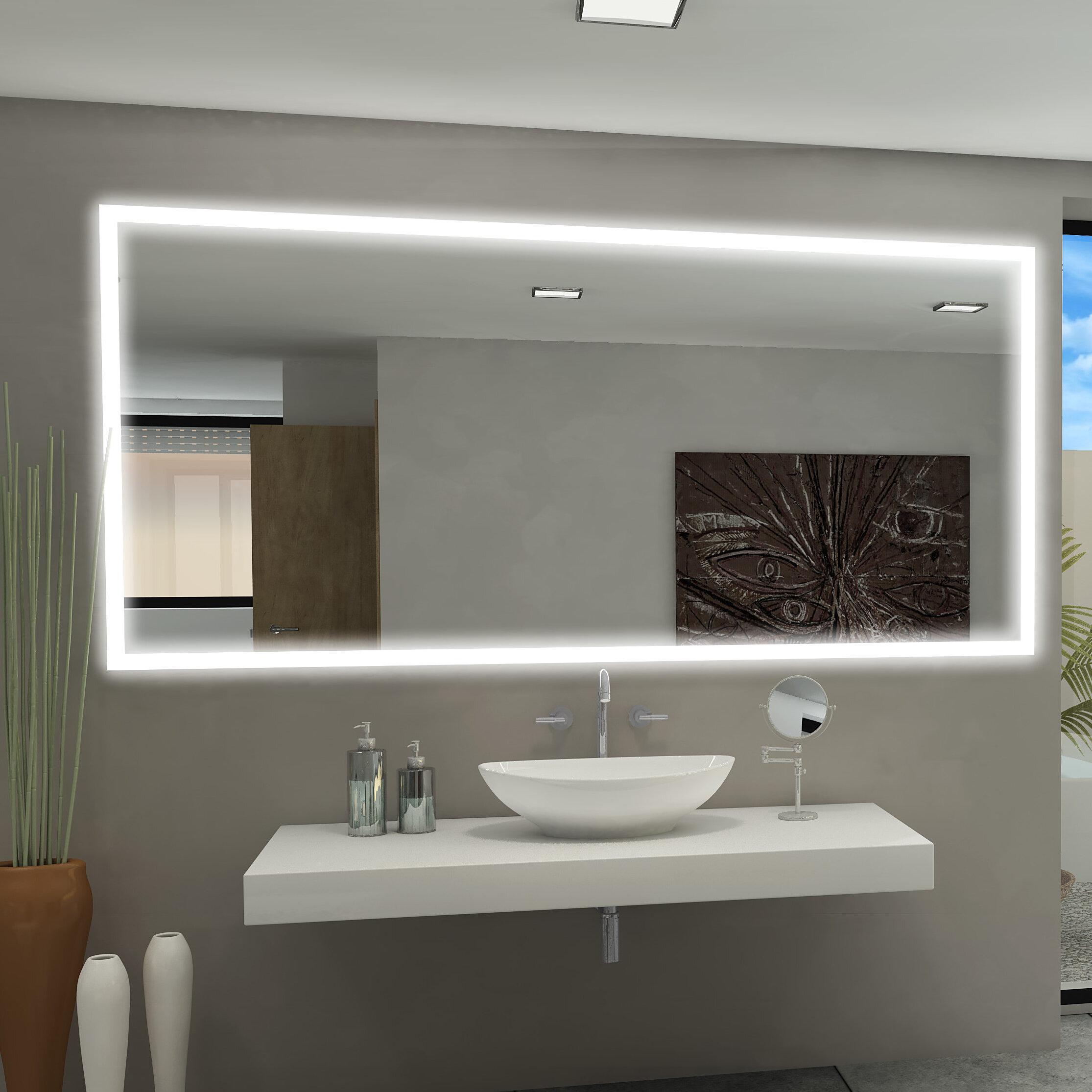 Charmant Paris Mirror Rectangle Backlit Bathroom / Vanity Wall Mirror   Wayfair