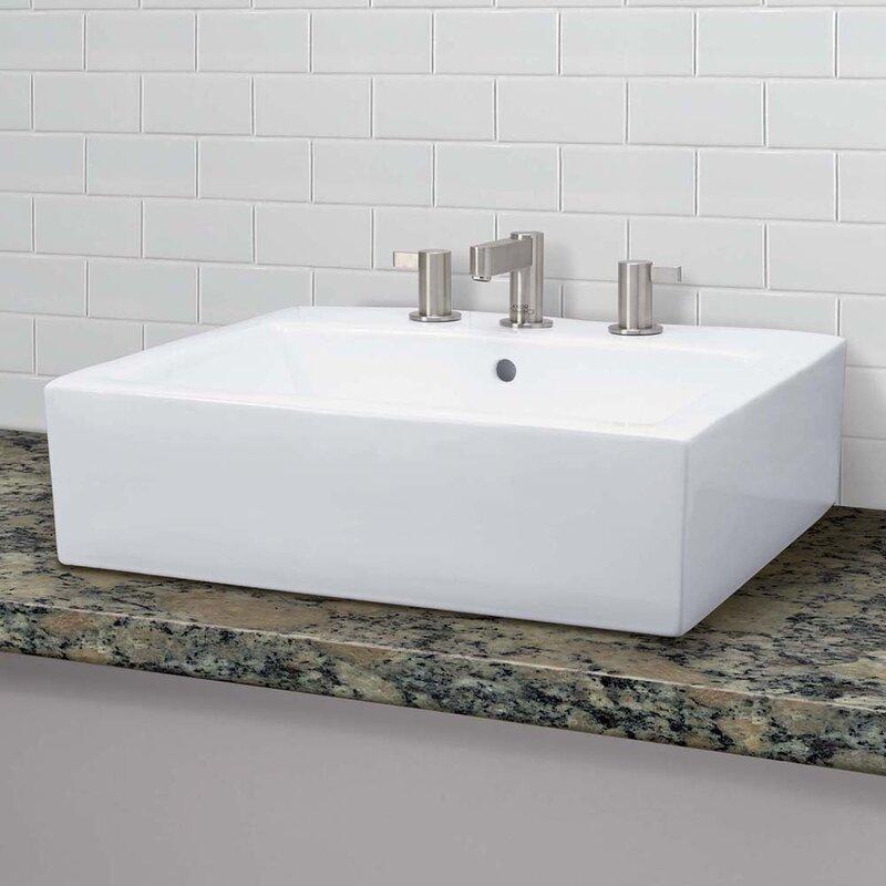 Bathroom Sinks Rectangular decolav classically redefined ceramic rectangular vessel bathroom