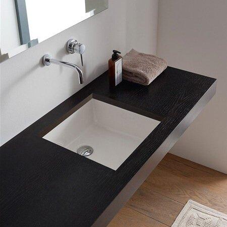 Merveilleux Miky Ceramic Square Undermount Bathroom Sink