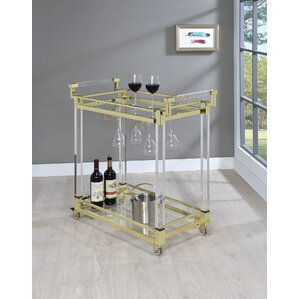 Kalib Serving Bar Cart by Everly Quinn