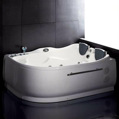 "Bathroom Jacuzzi Tub ariel bath 59"" x 59"" whirlpool tub & reviews   wayfair"
