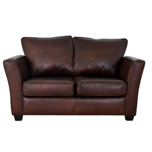 Bridgeport Genuine Top Grain Leather Loveseat by Westland and Birch