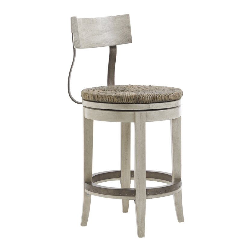 "Swivel Bar Chair lexington oyster bay 24"" swivel bar stool & reviews | wayfair"