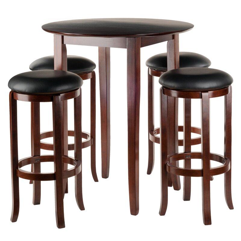 Winsome fiona 5 piece pub table set reviews wayfair for Cie publication 85 table 2
