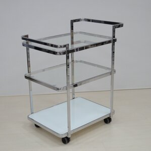 Ferrara Kitchen Cart with Glass Top by Ca..