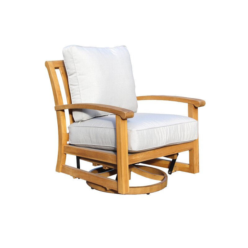 Chancy Courtyard Teak Patio Chair With Cushions Joss Main