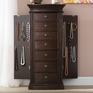 Charmant Aitkin Jewelry Armoire With Mirror