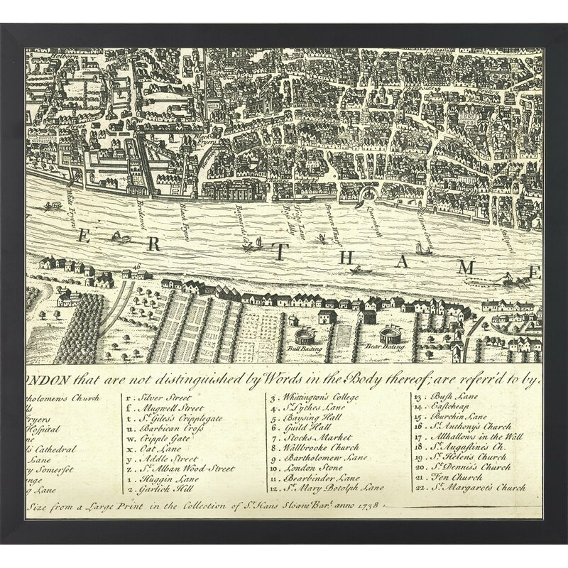 Art Virtuoso \'Segmented Map of London\' 6 Piece Framed Graphic Art ...