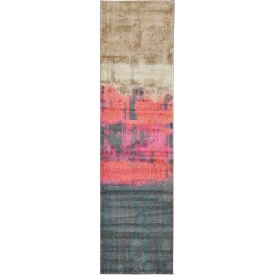 Wrought Studio Wynn Traditional Pink Area Rug Rug Size: Runner 2'7 x 10'