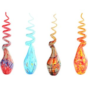 Decorative Contemporary Glass Figurine (Set of 4)