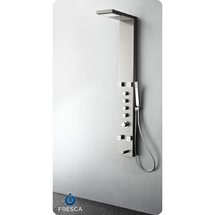 2019 Fashion Newly Luxury Bathroom Shower Faucet Led Brushed Nickle Shower Panel Column Bathtub Mixer Tap Handle Shower Temperature Screen Easy And Simple To Handle Home Improvement