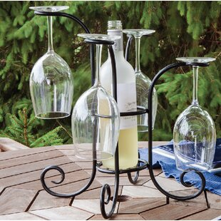 1 Bottle Tabletop Wine Gl Rack