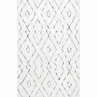 Peraza Hand Tufted White Area Rug