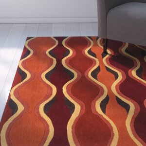 Rouillard Hand-Tufted Orange/Red Area Rug