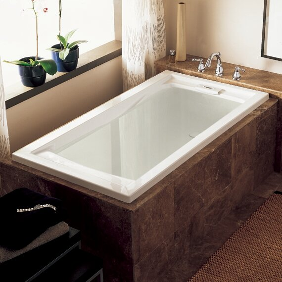Extra Deep Soaking Bathtub | Wayfair
