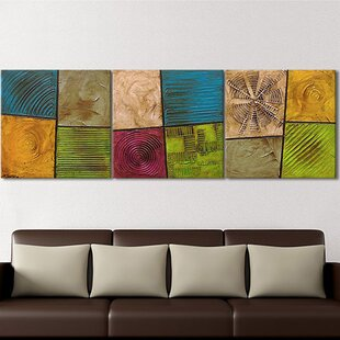 Playful Elements 3 Piece Framed Wall Art Set On Canvas