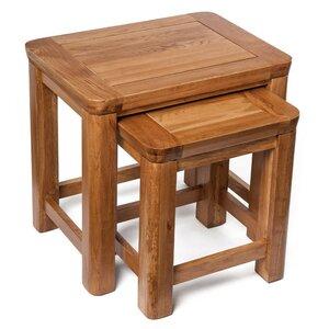 2-tlg. Satztisch-Set London von Hallowood Furniture