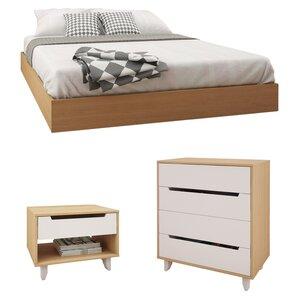 Coalmont Platform Configurable Wood Bedroom Set