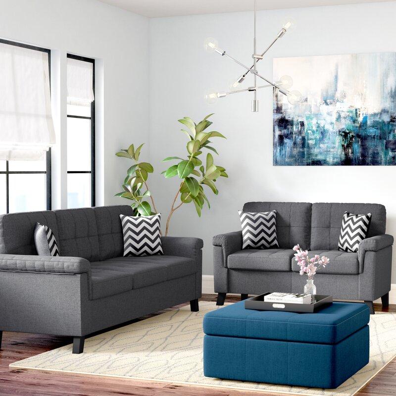 Zipcode Design Carli 2 Piece Living Room Set & Reviews | Wayfair