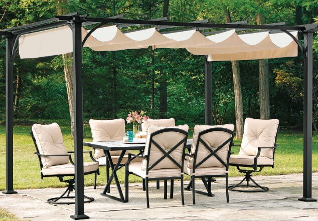 Replacement Canopy for Summer House Pergola - Sunjoy Replacement Canopy For Summer House Pergola Wayfair