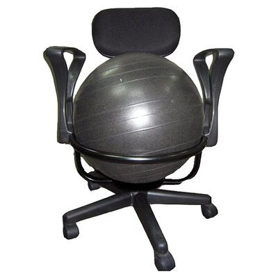 high back exercise ball chair