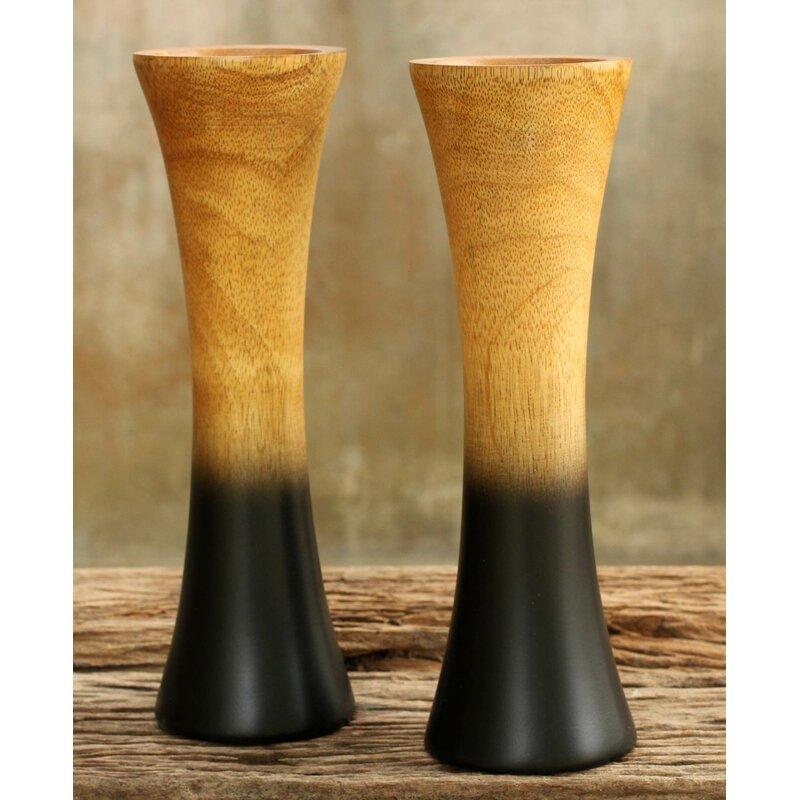 Novica Volcanoes Mango Wood Vase Wayfair