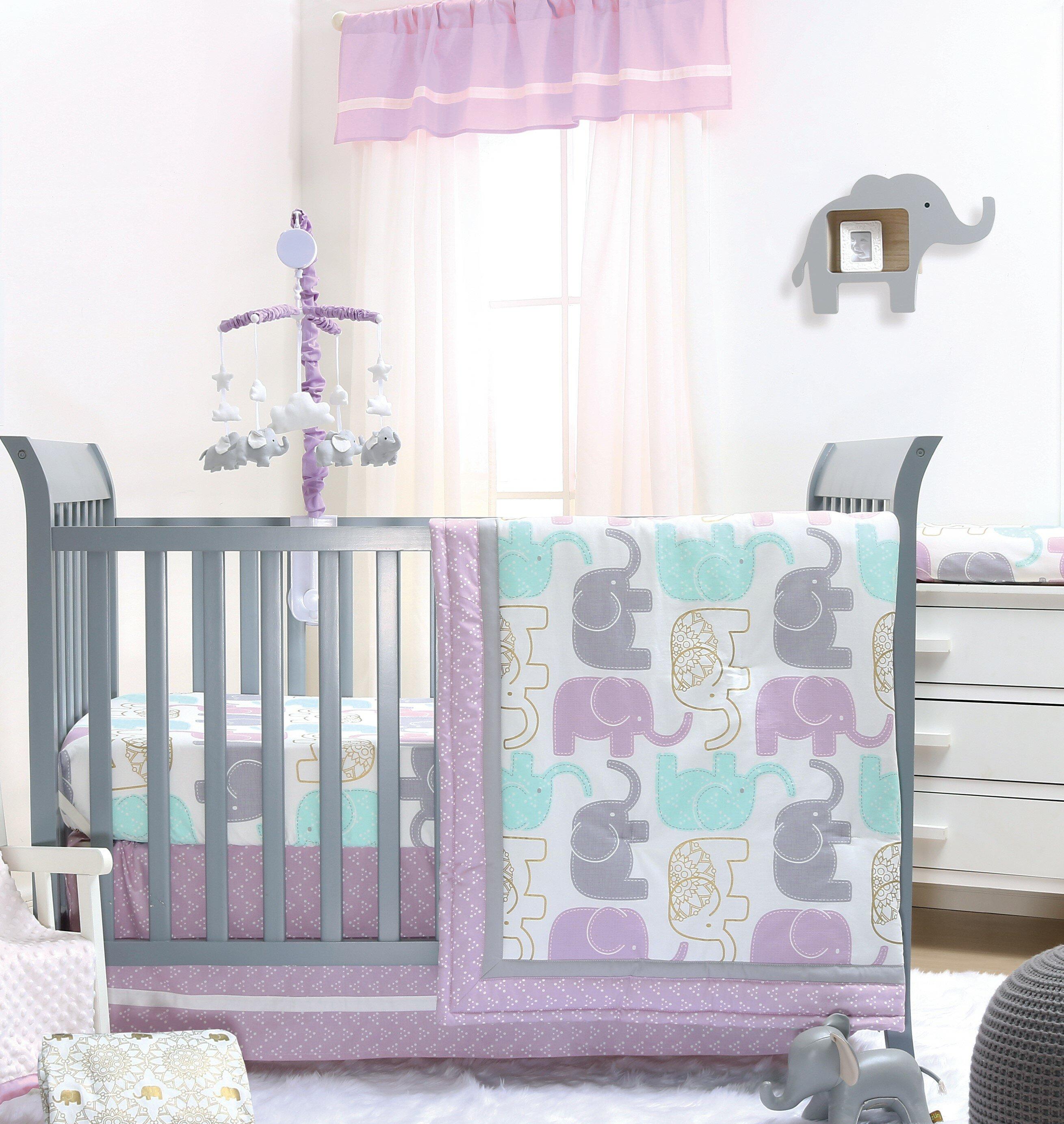 ed153aaa96b4 The Peanut Shell Little Peanut 6 Piece Crib Bedding Set   Reviews ...