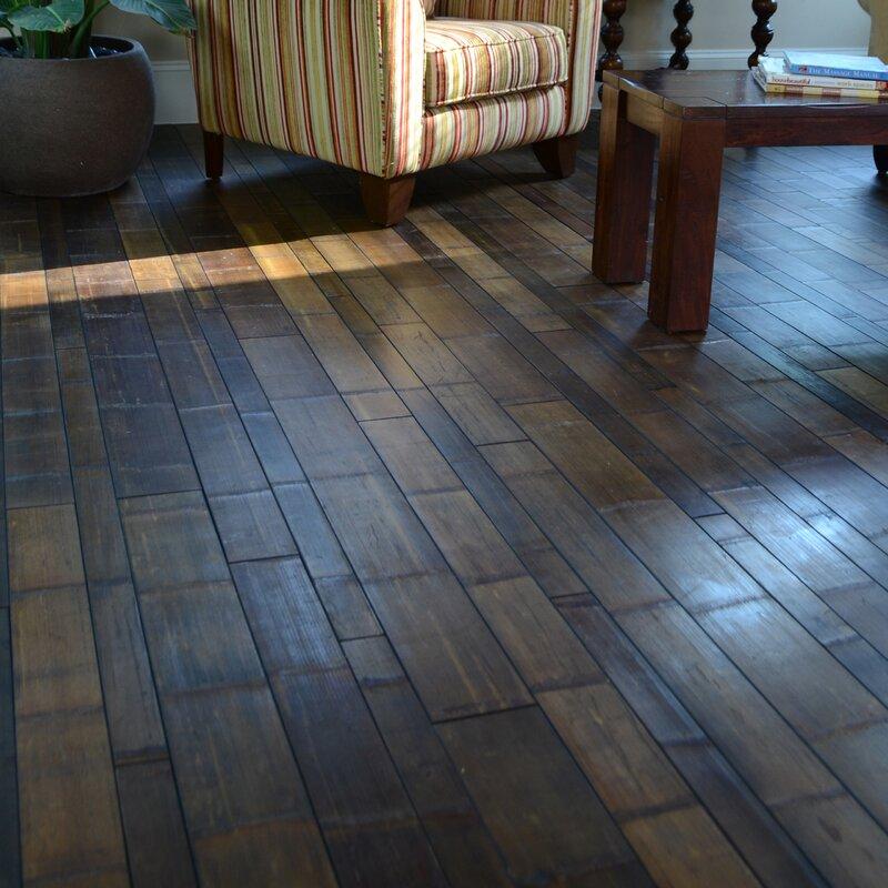 random width solid bamboo flooring in natural skin