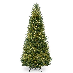 slim 12 green fir trees artificial christmas tree with clearwhite lights