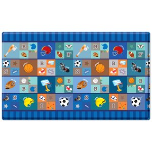 Kid's Playmat in Star Player Indoor/Outdoor Area Rug