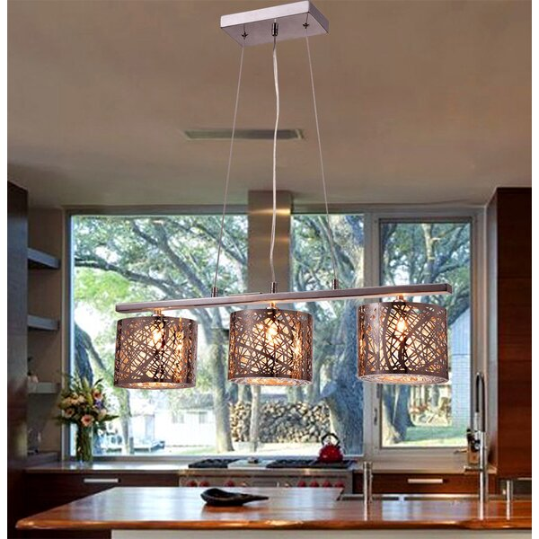 Warehouse Of Tiffany Avery 3 Light Kitchen Island Pendant U0026 Reviews |  Wayfair