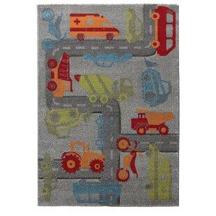 Traffic Woven Grey/Orange/Green Rug by Sigikid
