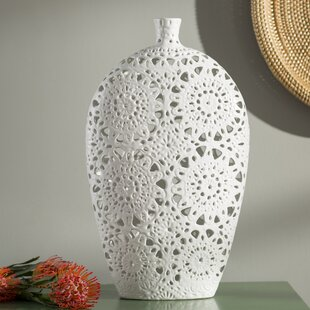 Tillotson Fl Pierced Floor Vase