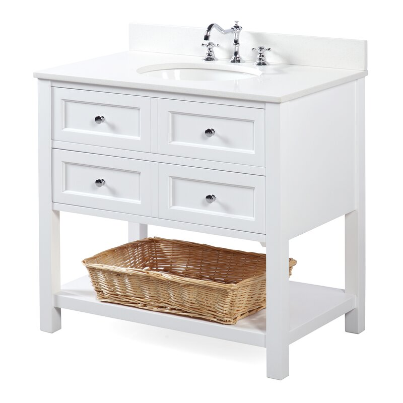 KBC New Yorker 36 Single Bathroom Vanity Set Reviews Wayfair