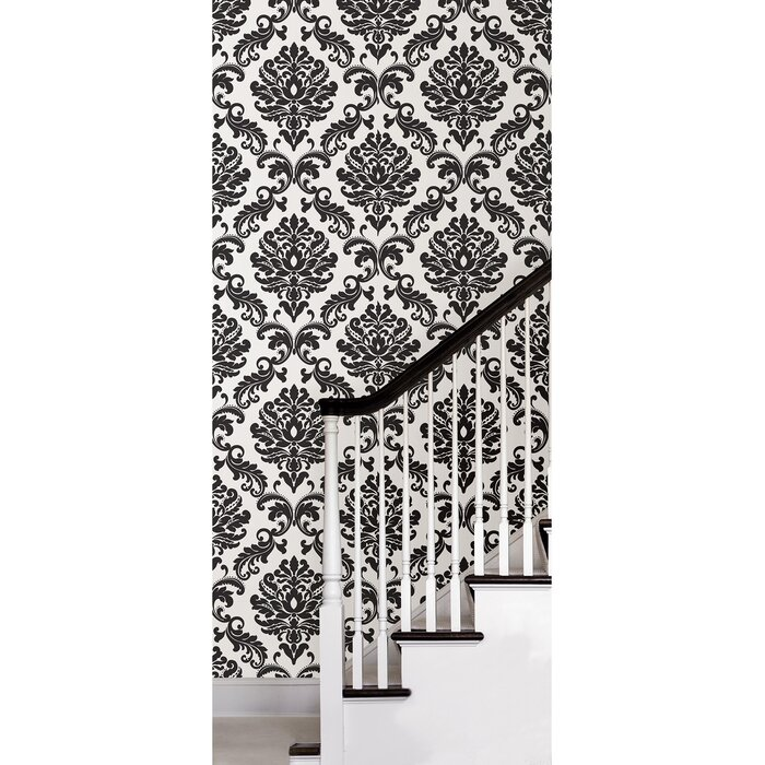 18 L X 20 5 W Damask And Stick Wallpaper Roll